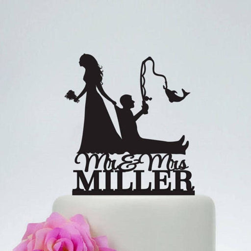 Personalized Wood Wedding Fishing Cake Toppers | Bridelily - cake toppers