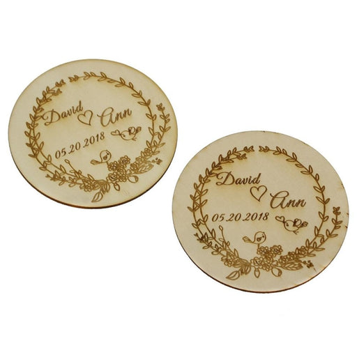 Personalized Wooden Party Coaster Favors30pcs | Bridelily - personalized favors