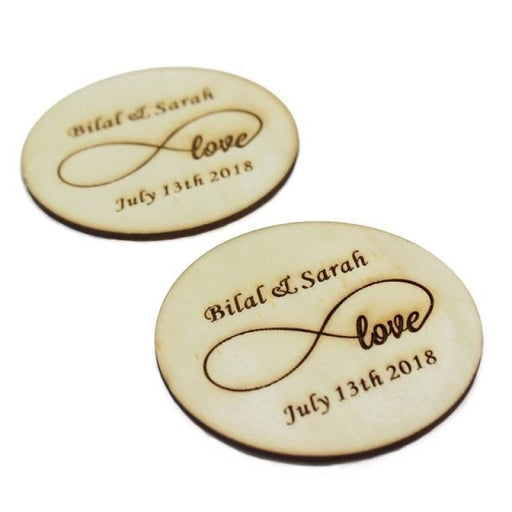 Personalized Wooden Party Coaster Favors30pcs | Bridelily - Style 8 / 80MM - personalized favors