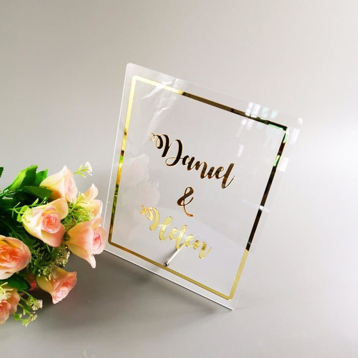 Personalized Word Sign Party Decor Guestbooks | Bridelily - guestbooks