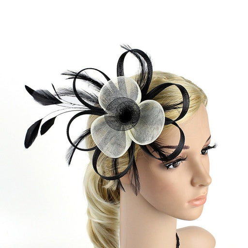 Pillbox Bride Feather Flower Clips Fascinators | Bridelily - fascinators
