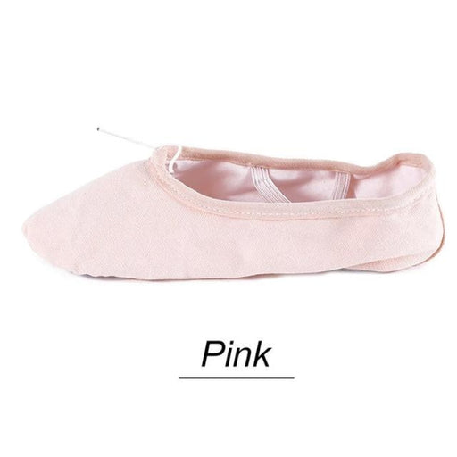 Pointe COTTON Canvas Leather Ballet Dance Shoes | Bridelily - ballet dance shoes