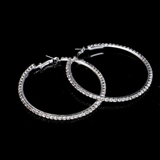 Popular Rhinestone Circle Wedding Earrings | Bridelily - earrings