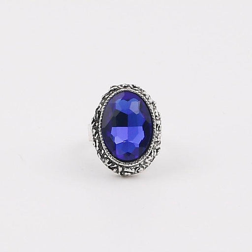 Popular Royal Blue Crystal Wedding Rings | Bridelily - rings