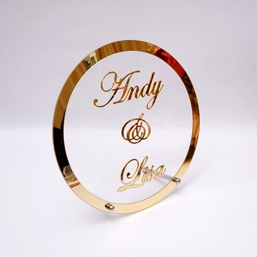 Pretty Round Mirror Decor Wedding Anniversary Gifts - Gold / 35cmX35cm - wedding anniversary gifts