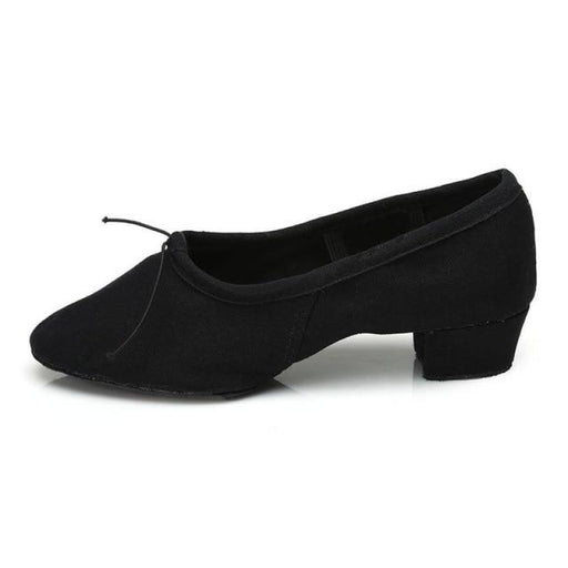 PU Ballroom Square Heel ballet Dance Shoes | Bridelily - black1 / 3.5 - ballet dance shoes