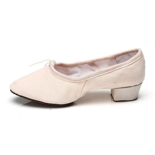 PU Ballroom Square Heel ballet Dance Shoes | Bridelily - pink1 / 3.5 - ballet dance shoes