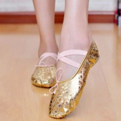 PU Beginner Elastic Band Soft Ballet Dance Shoes | Bridelily - 3 / 14.5 - ballet dance shoes