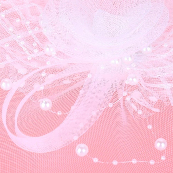 Retro Veils Pearl Feather Flower Clip Fascinators | Bridelily - fascinators
