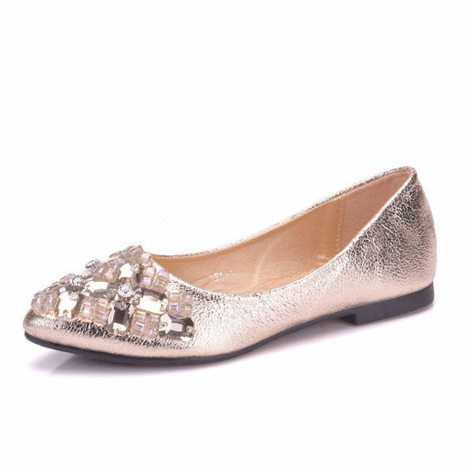 Rhinestone Pointed Toe Diamond Wedding Flats | Bridelily - wedding flats