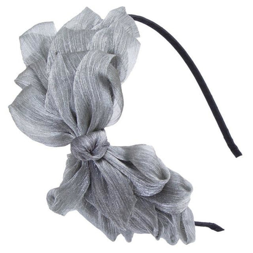 Ribbon Lace Bow Hoop Flower Girl Accessories | Bridelily - Gray - flower girl accessories