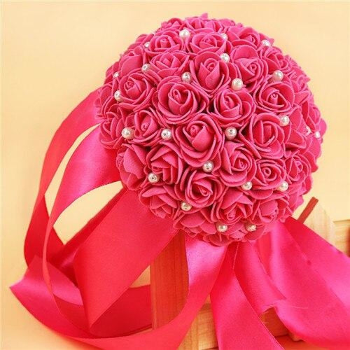 Romantic Flower Rose Handmade Wedding Bouquets | Bridelily - rose red - wedding flowers