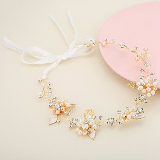 Romantic Handmade Leaves Pearls Headbands | Bridelily - headbands