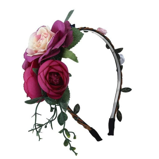 Rose Crown Handemade Hoop Flower Girl Accessories | Bridelily - Lavender - flower girl accessories