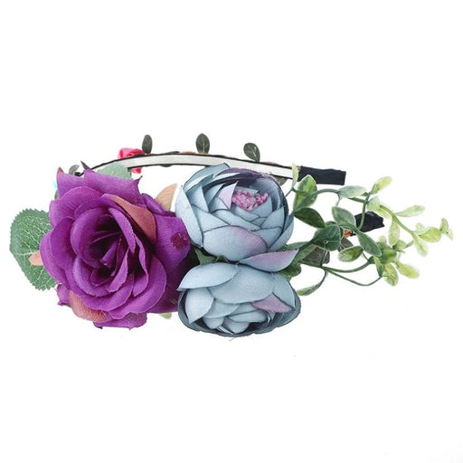 Rose Crown Handemade Hoop Flower Girl Accessories | Bridelily - flower girl accessories
