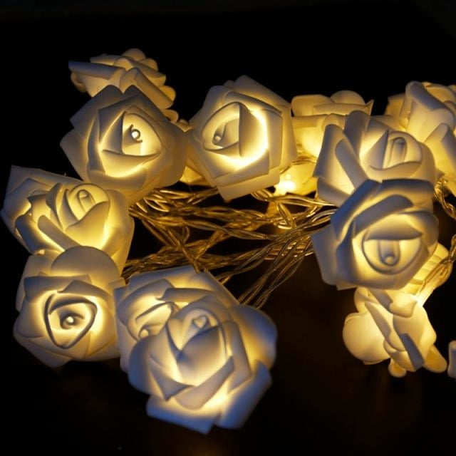 Rose String Lights Battery Wedding Decorations | Bridelily - Warm White - wedding decorations