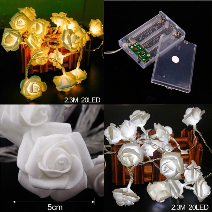 Rose String Lights Battery Wedding Decorations | Bridelily - wedding decorations