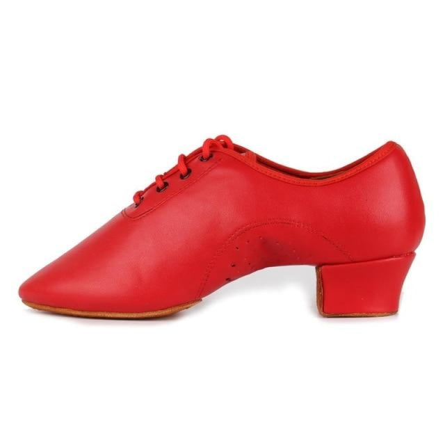 Rubber Professional Cotton Latin Dance Shoes | Bridelily - Red / 12.5 - jazz dance shoes