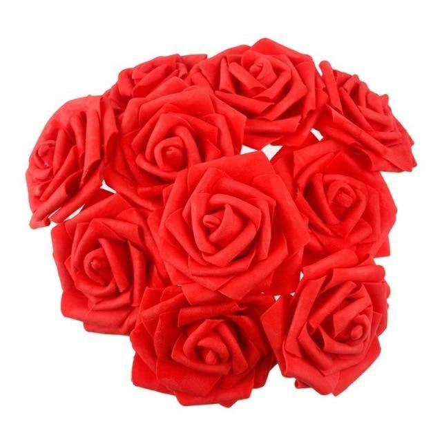 Rustic Flowers Wedding Decorations (10pcs) | Bridelily - Red - wedding decorations
