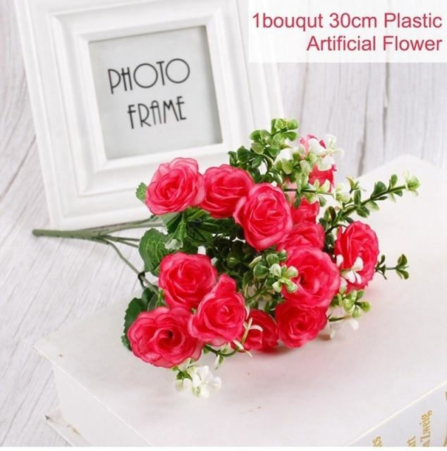 Rustic Flowers Wedding Decorations (10pcs) | Bridelily - Red 1 - wedding decorations