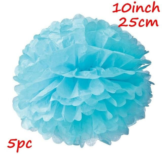 Rustic Flowers Wedding Decorations (10pcs) | Bridelily - Light Blue 2 - wedding decorations