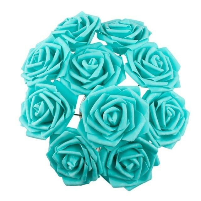 Rustic Flowers Wedding Decorations (10pcs) | Bridelily - Tiffany blue - wedding decorations