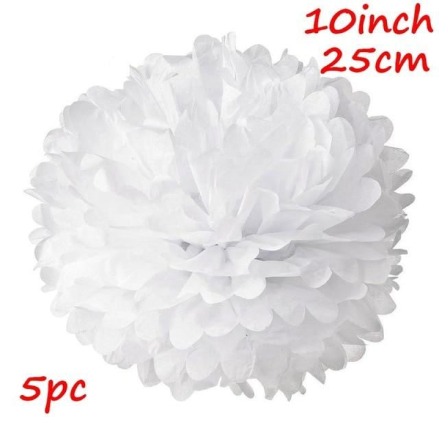 Rustic Flowers Wedding Decorations (10pcs) | Bridelily - White 2 - wedding decorations