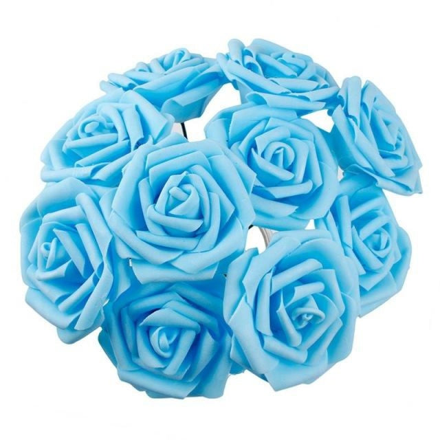 Rustic Flowers Wedding Decorations (10pcs) | Bridelily - Blue - wedding decorations