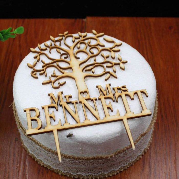 Rustic Wedding Wooden Custom Cake Toppers | Bridelily - cake toppers