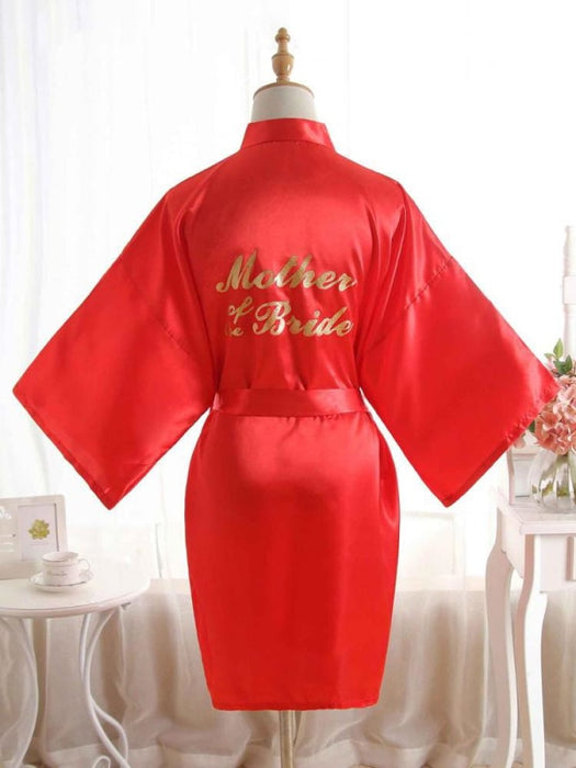 Satin Rhinestone Letter Wedding Sleepwear Robes | Bridelily - 12 / One Size - robes