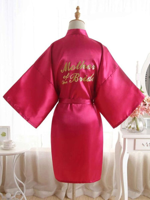 Satin Rhinestone Letter Wedding Sleepwear Robes | Bridelily - 16 / One Size - robes