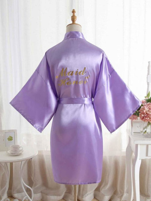 Satin Rhinestone Letter Wedding Sleepwear Robes | Bridelily - 7 / One Size - robes