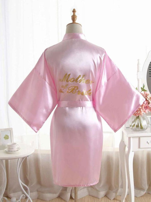 Satin Rhinestone Letter Wedding Sleepwear Robes | Bridelily - 13 / One Size - robes