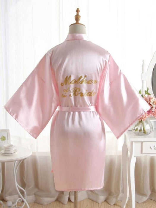 Satin Rhinestone Letter Wedding Sleepwear Robes | Bridelily - 18 / One Size - robes