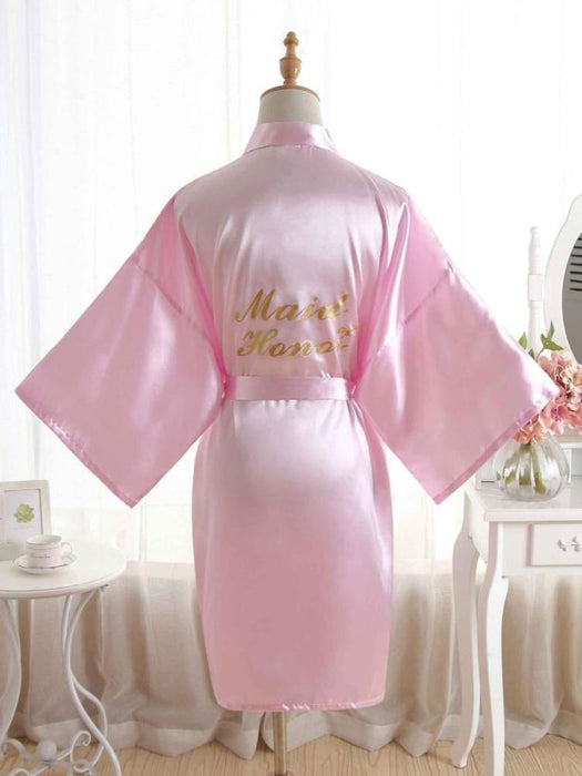 Satin Rhinestone Letter Wedding Sleepwear Robes | Bridelily - 3 / One Size - robes