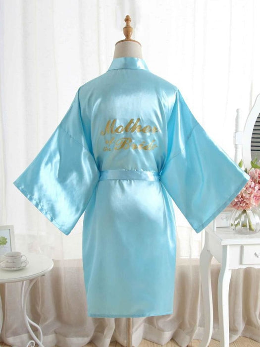 Satin Rhinestone Letter Wedding Sleepwear Robes | Bridelily - 15 / One Size - robes