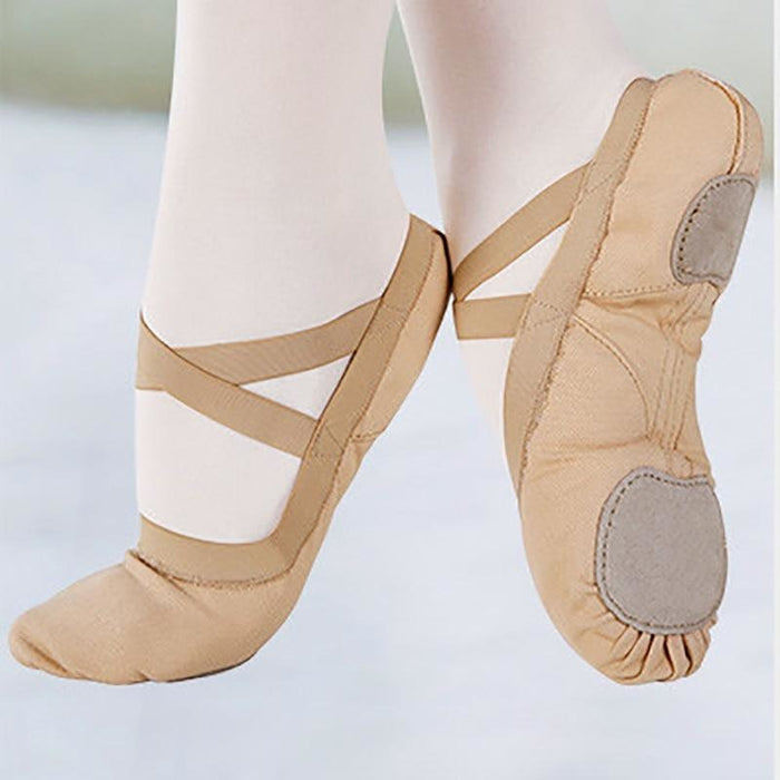 Scarpe Non-Slip Elastic Canva Ballet Dance Shoes | Bridelily - ballet dance shoes
