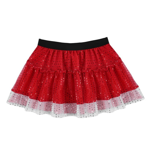 Shiny Sequin Short Fancy Stage Skirt Dancewear | Bridelily - dancewear