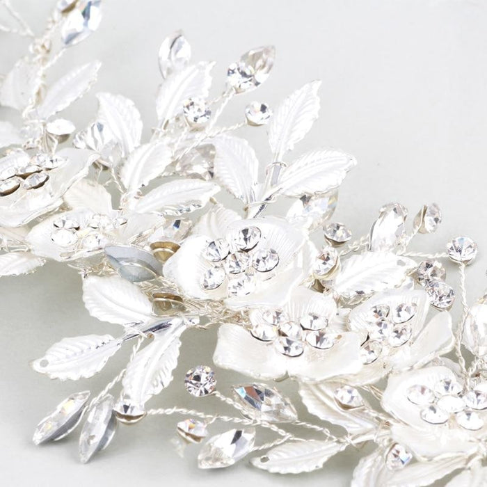 Silver Jewelry Handmade Floral Headpieces | Bridelily - floral headpieces