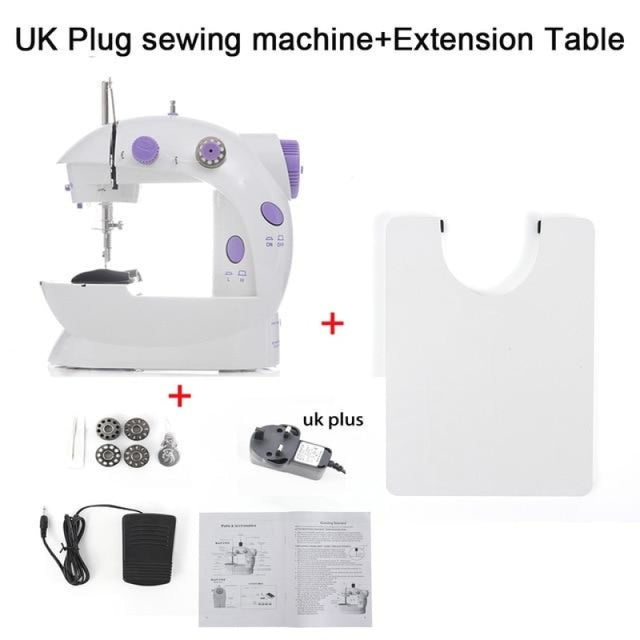 Simple Mini Sewing Machine - CHINA / UK PLUG With Table - sewing machines