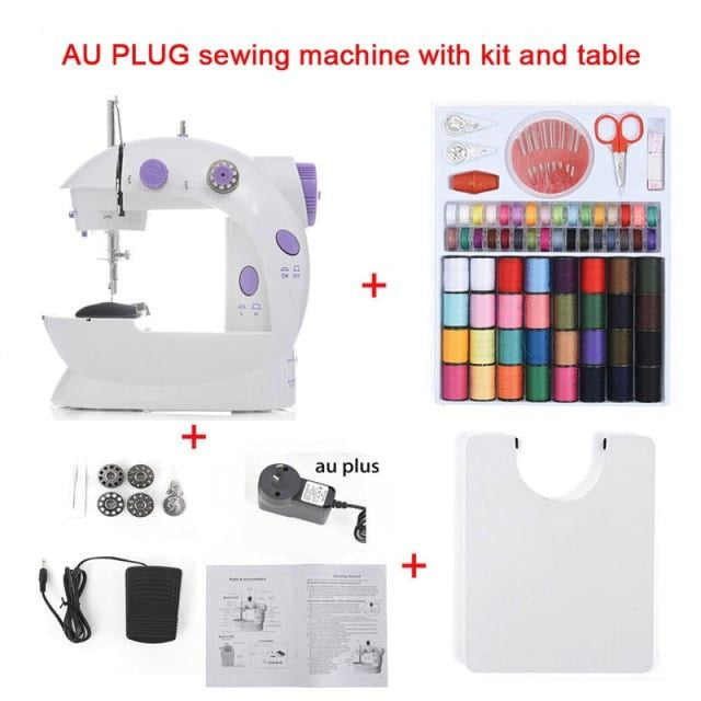 Simple Mini Sewing Machine - CHINA / AU With Kit Table - sewing machines