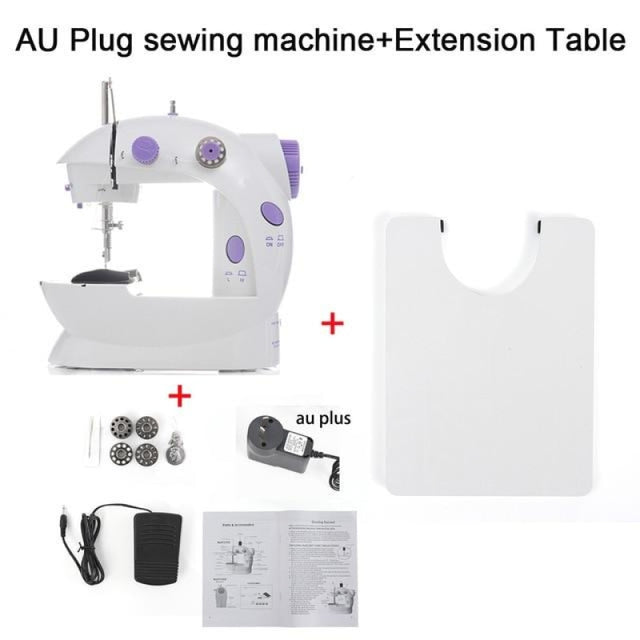 Simple Mini Sewing Machine - CHINA / AU PLUG With Table - sewing machines