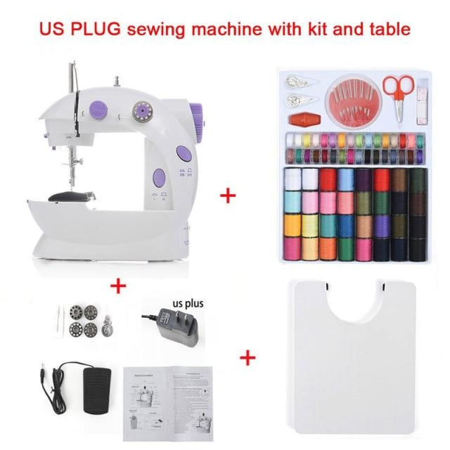 Simple Mini Sewing Machine - CHINA / US With Kit Table - sewing machines