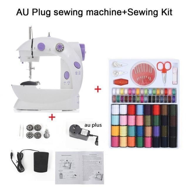 Simple Mini Sewing Machine - CHINA / AU PLUG With Kit - sewing machines