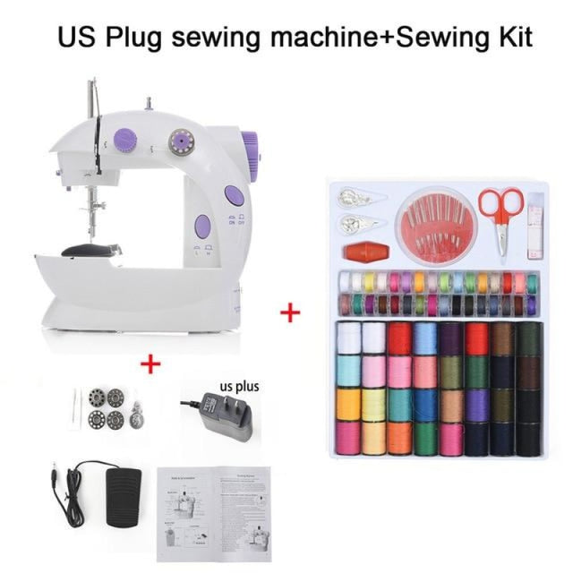 Simple Mini Sewing Machine - CHINA / US PLUG With Kit - sewing machines