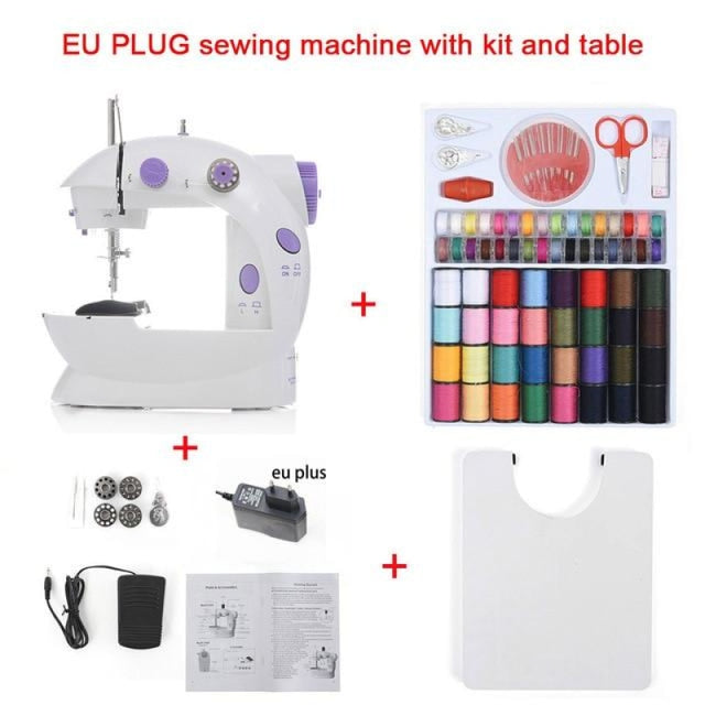 Simple Mini Sewing Machine - CHINA / EU With Kit Table - sewing machines
