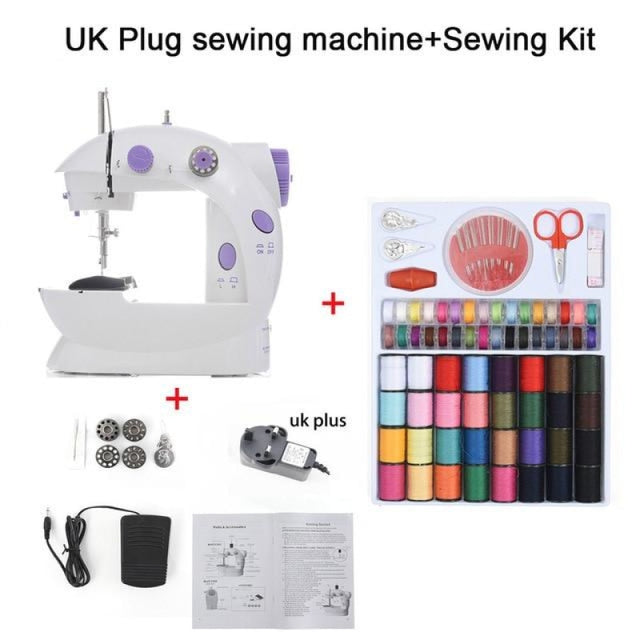 Simple Mini Sewing Machine - CHINA / UK PLUG With Kit - sewing machines