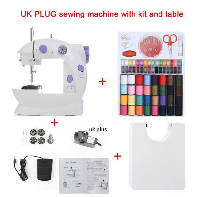 Simple Mini Sewing Machine - CHINA / UK With Kit Table - sewing machines