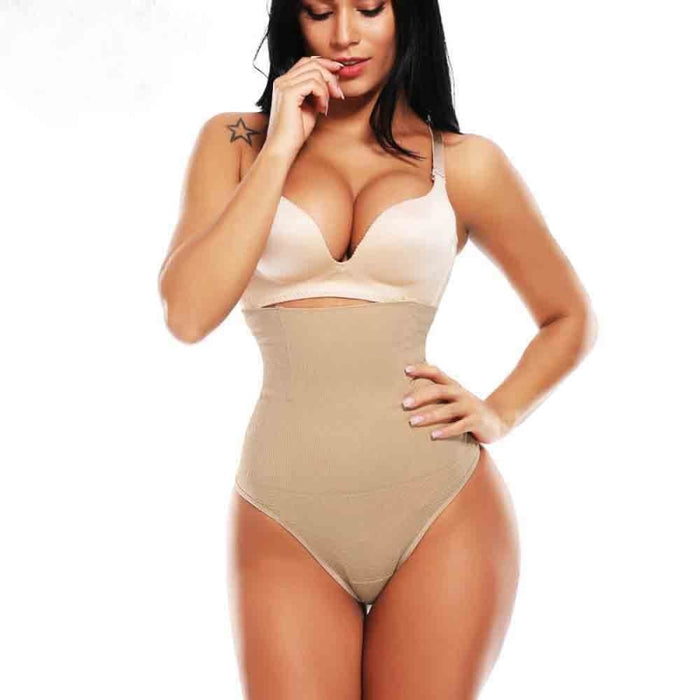 Slimming High Waist Tummy Control Shapewears | Bridelily - Beige / S - shapewears