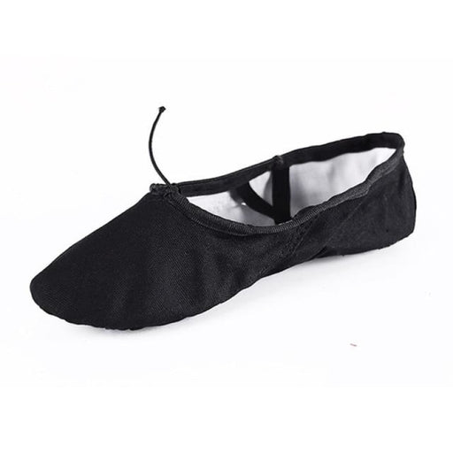 Slippers Canvas Soft Sole Ballet Dance Shoes | Bridelily - Black / 4 - ballet dance shoes